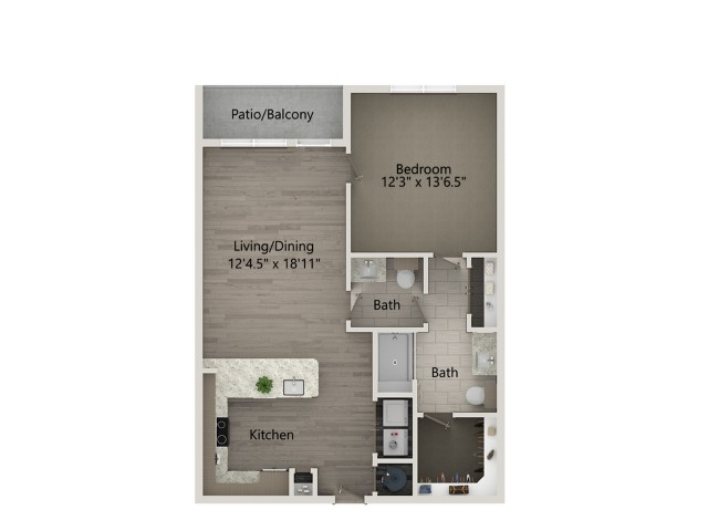 A4   1 bed 1 bath   from 836 square feet