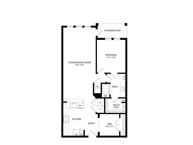 A3E | 1 bed 1 bath | from 976 square feet