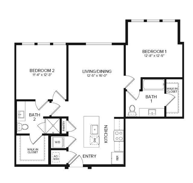 B1 Alt2   2 bed 2 bath   986 sq ft