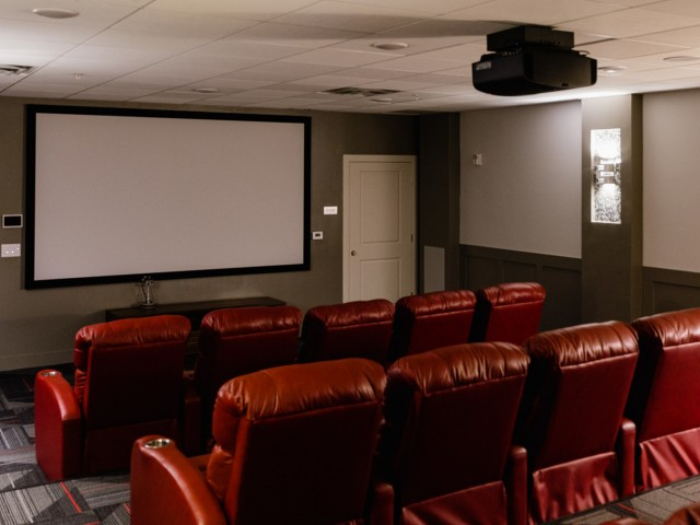 Tiered Seating Theater with Recliners