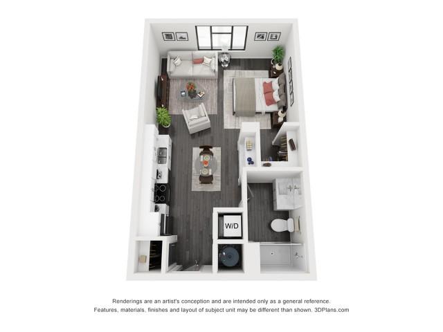 Image of Escalante Floorplan - Studio