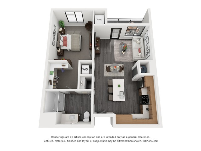 Snow Canyon Floorplan - 1 Bedroom