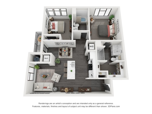 Bryce Canyon Floorplan - 2 Bedroom