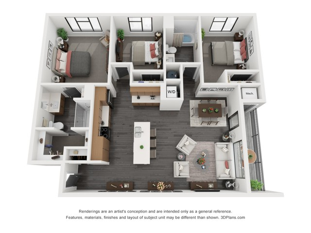 Canyonlands Floorplan - 3 Bedroom