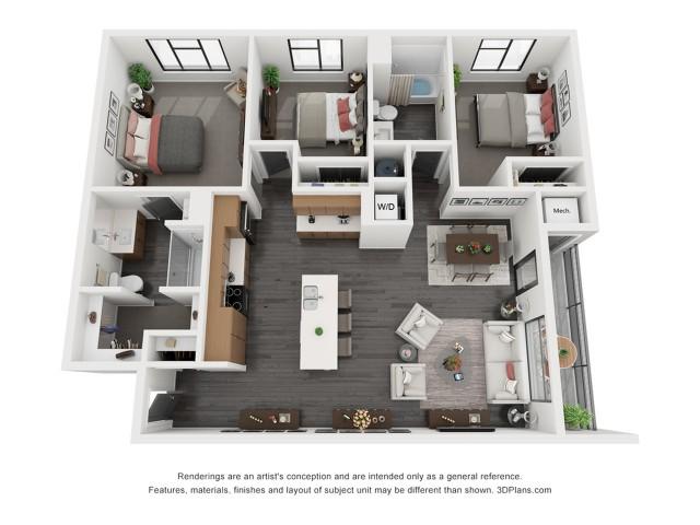 Canyonlands Floorplan - 3 Bedroom