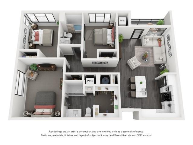 Capitol Reef Floorplan - 3 Bedroom