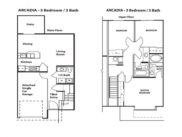 3 Bedroom Town Home