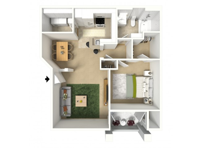 Juniper One Bedroom