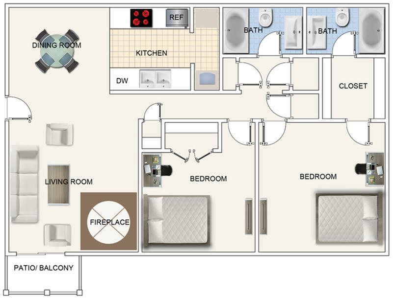 2 bedroom corp