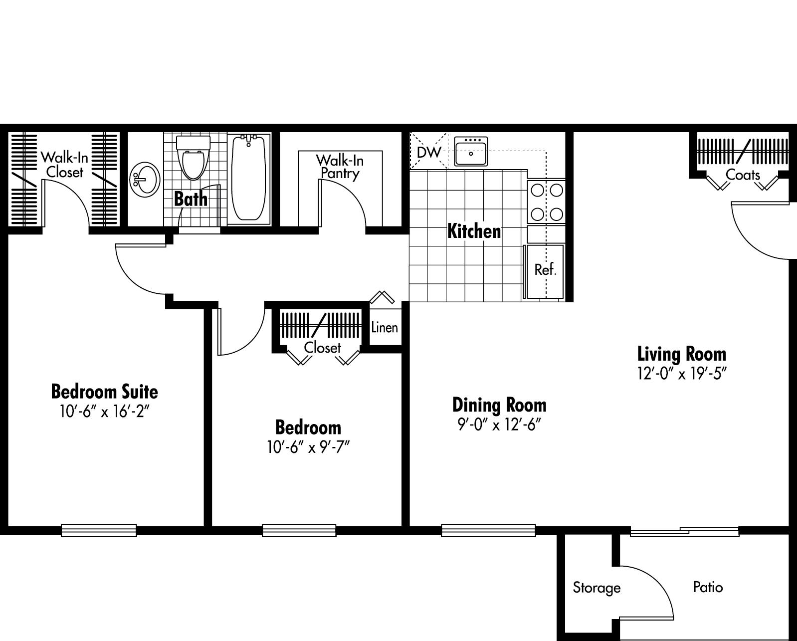 2 Bed / 1 Bath Apartment In Oxford MI