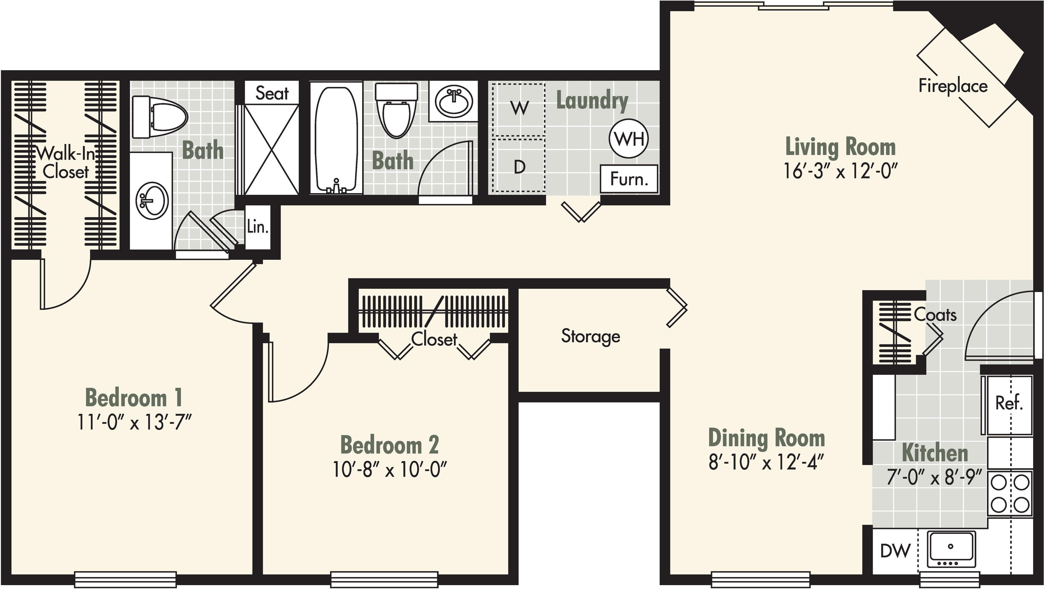2 Bedroom - 2 Bath