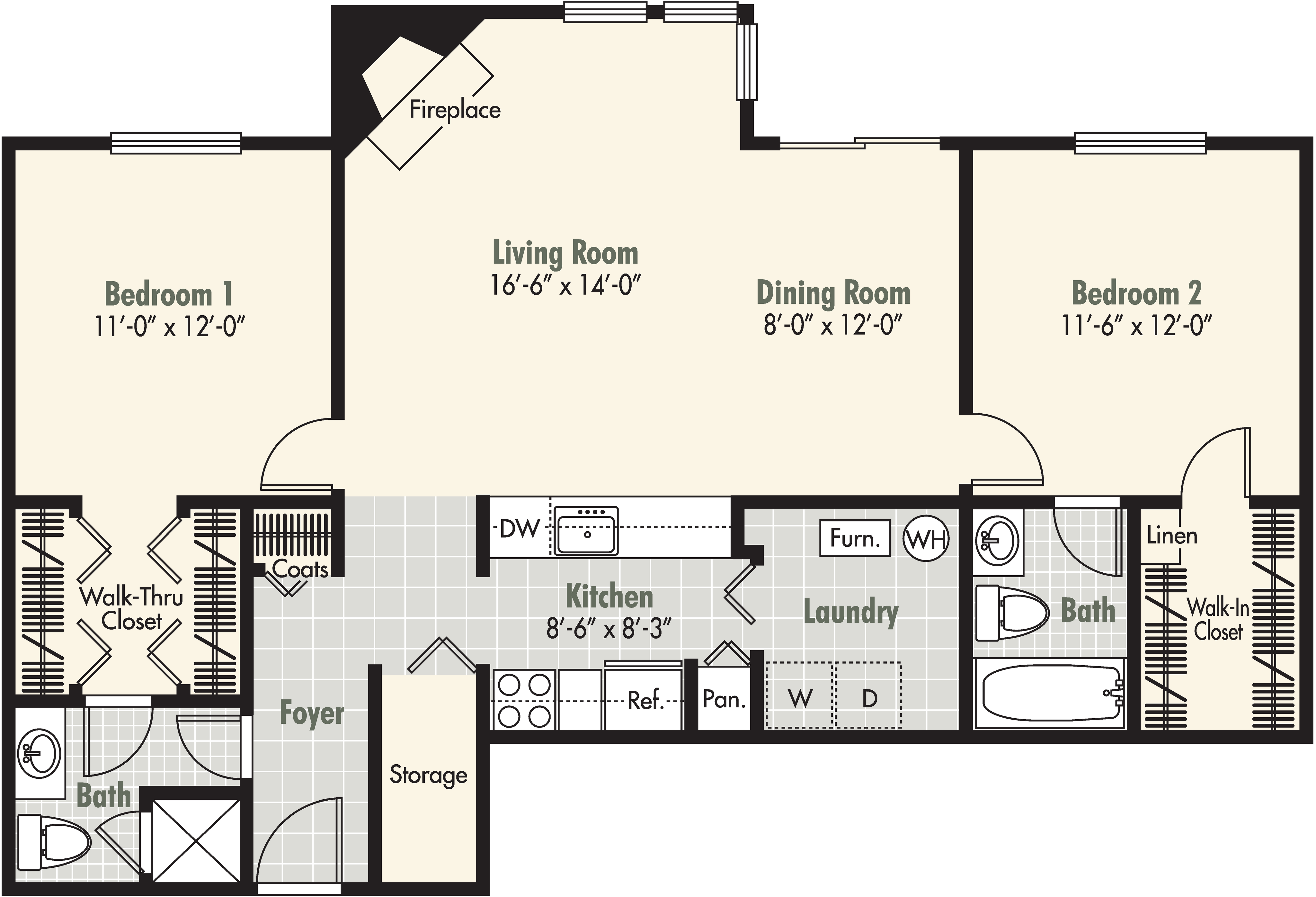 2 Bedroom - 2 Bath