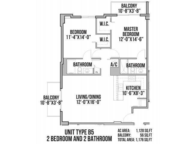 B5 | 2 Bedrooms, 2 Baths