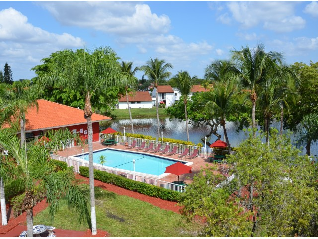 Image of Sparkling Pool with Amazing Lake Views for Lago Club Apartments