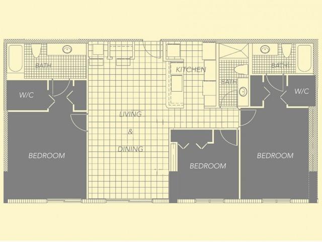 3 Bedroom, 3 Bath