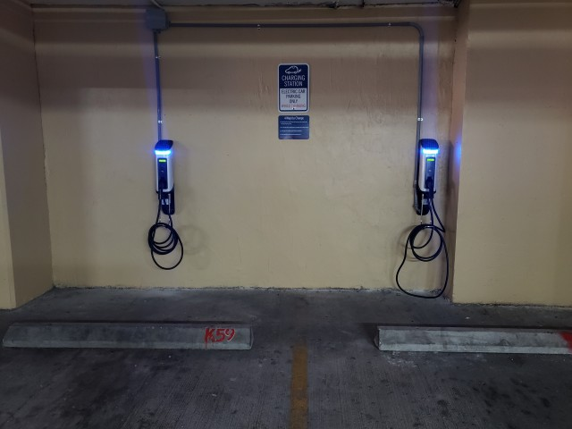 Image of Electric Car Charging Station for Intracoastal Yacht Club