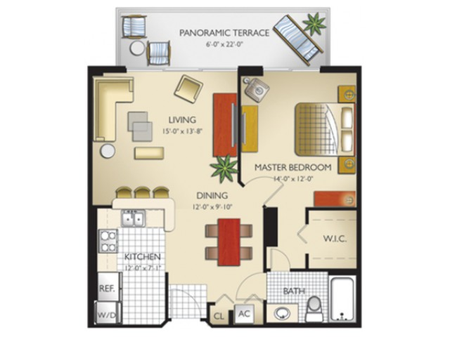 1 Bedroom, 1 Bath