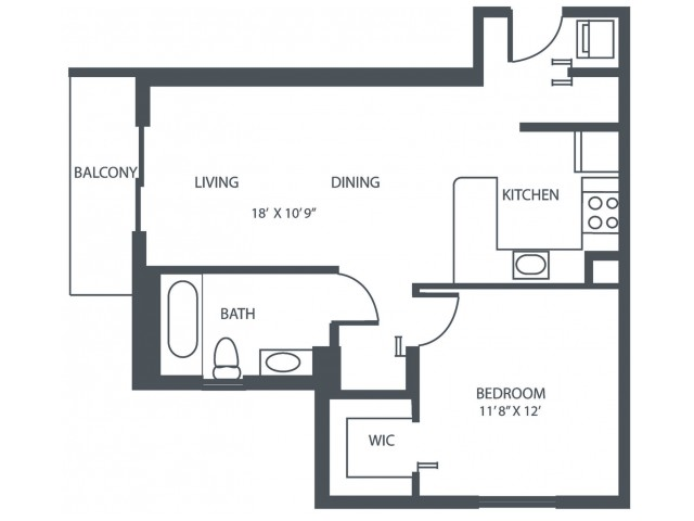 Unit G2 | 1 Bedroom, 1 Bath