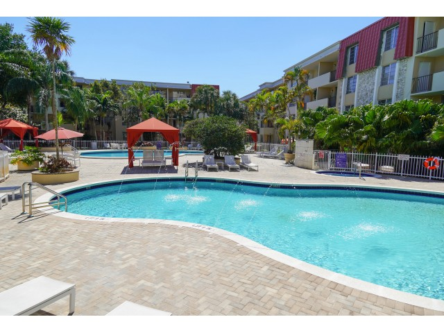 Image of Two Large Swimming Pools with Poolside WIFI for Colony at Dadeland