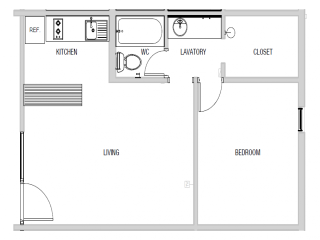 One Bedroom | 476 sq ft