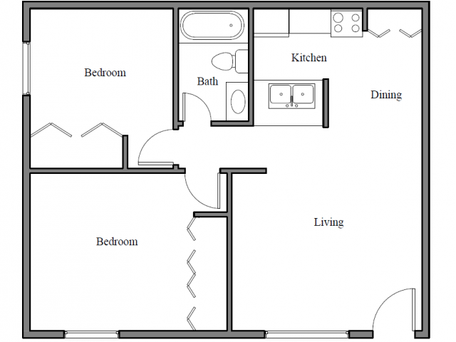 Two Bedroom | Two Bath
