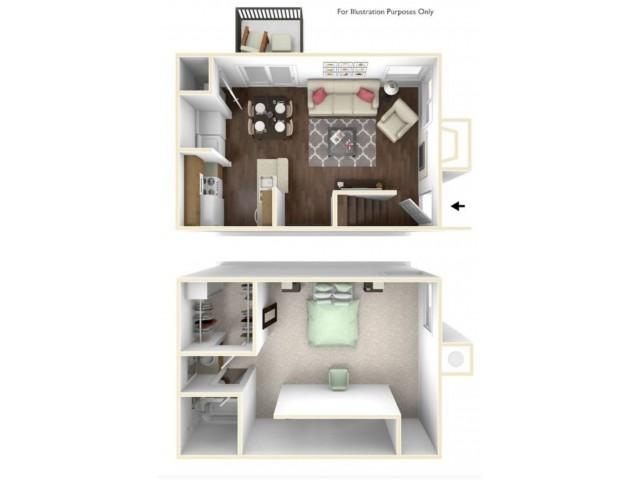 One Bedroom Tonwhome