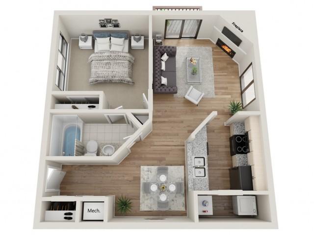 Sundance floorplan | South Summit Apartments