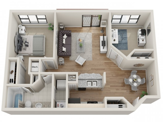 Breckenridge floorplan | South Summit Apartments
