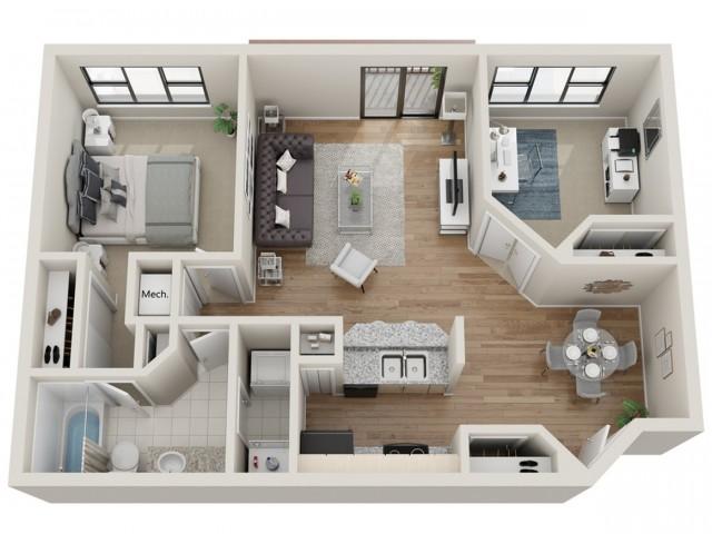Big Sky floorplan | South Summit Apartments