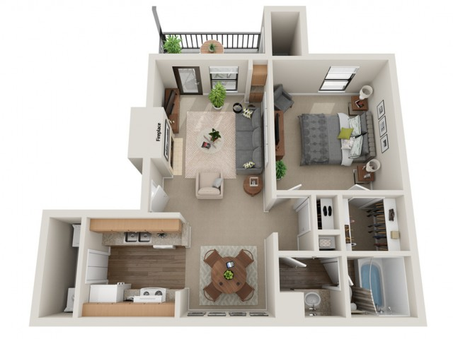 Justify Floorplan | Vanderbilt Apartments