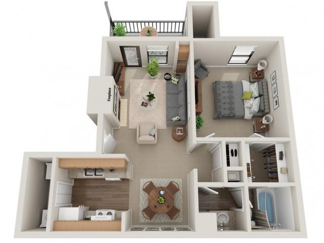 Affirmed Floorplan | Vanderbilt Apartments