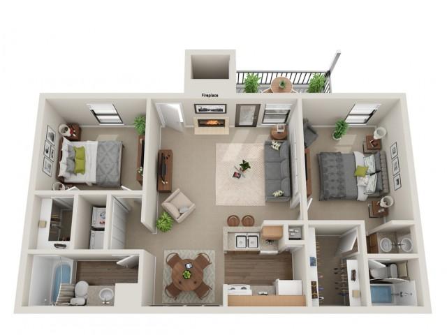 Seabiscuit Floorplan | Vanderbilt Apartments