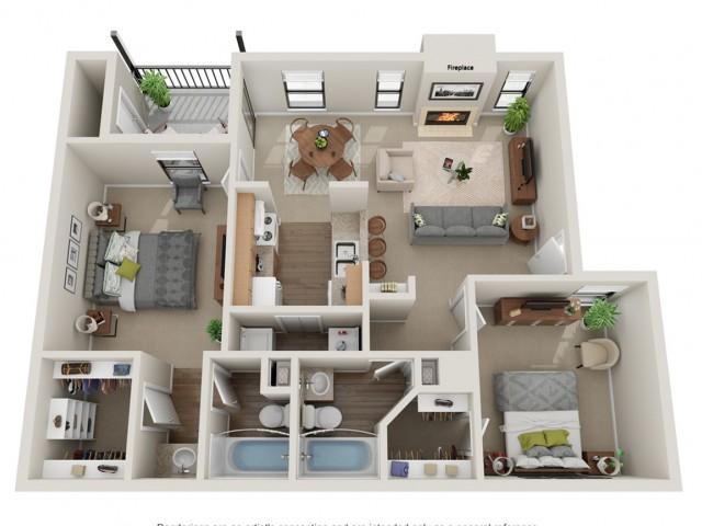 Triple Crown Floorplan | Vanderbilt Apartments