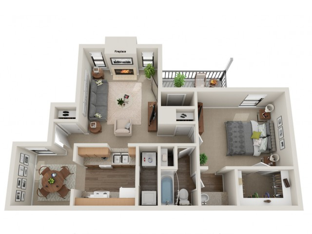 Belmont Floorplan | Vanderbilt Apartments