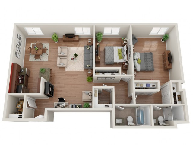 2 Bdrm Floor Plan | Apartments In St Louis | Del Coronado