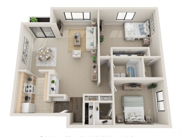 Two Bedroom Floorplan | Fontainebleau Apartments | St. Louis Apartments