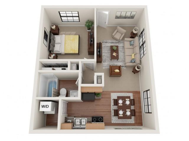 1 Bedroom Floor Plan | Richardson Place | Richardson Place