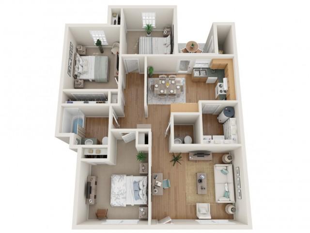 3 Bedroom Garden | Bentwood Townhomes