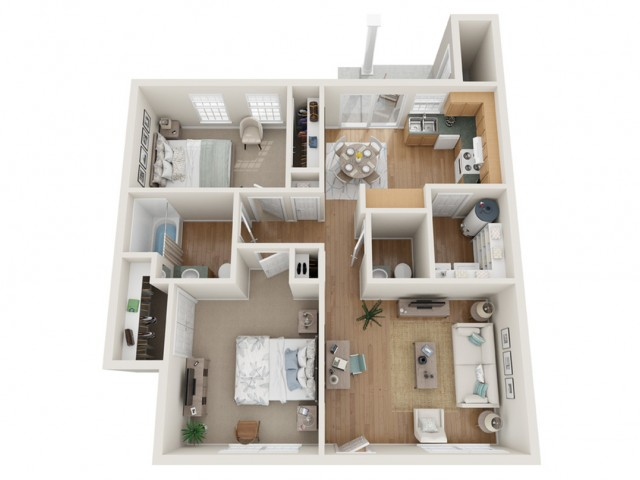 2 Bedroom Garden | Bentwood Townhomes