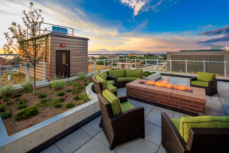 Image of Skydeck with Fire Pit for The Lux