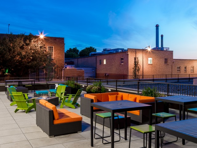 Image of Community Patio with Fire Pits for District Flats