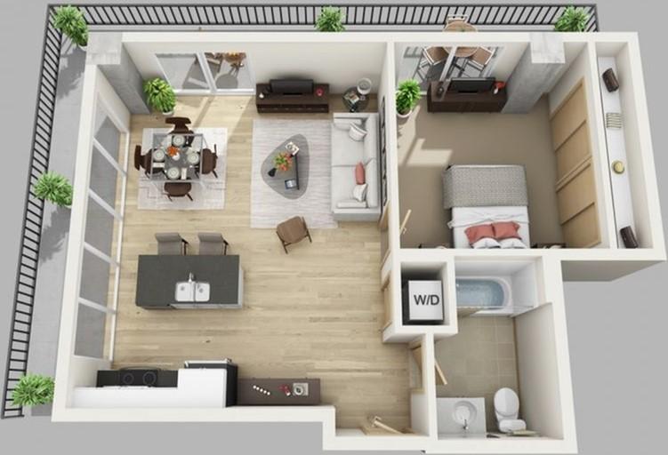 1 Bed, 1 Bath Penthouse C