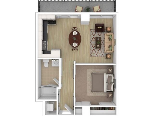 1x1 Penthouse A