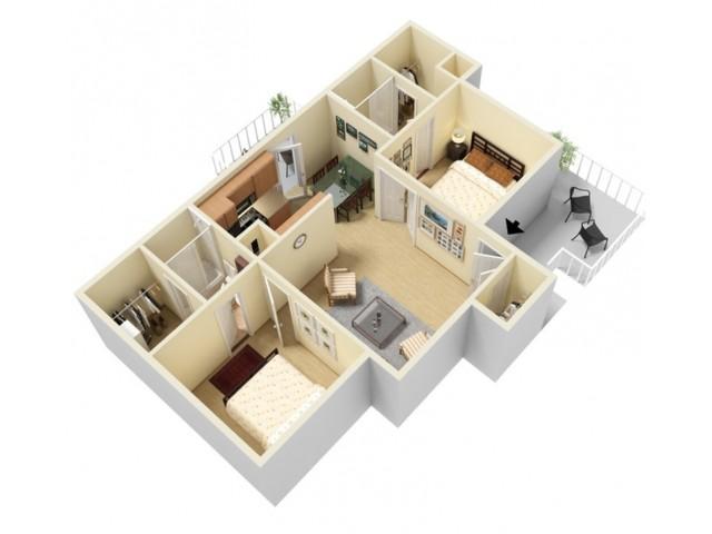2 Bed, 2 Bath Penthouse WD
