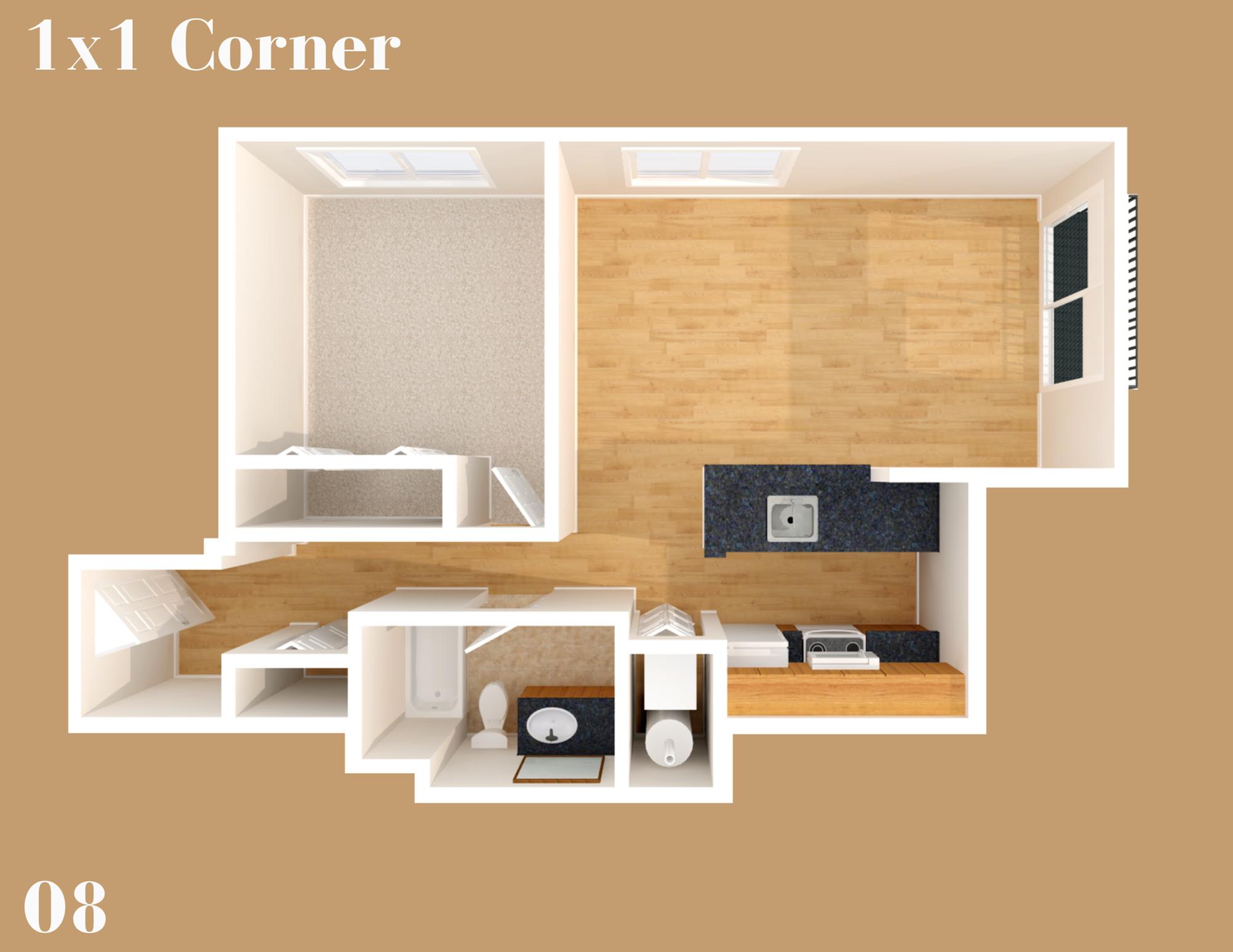 Lothlorien 1x1 Corner 08
