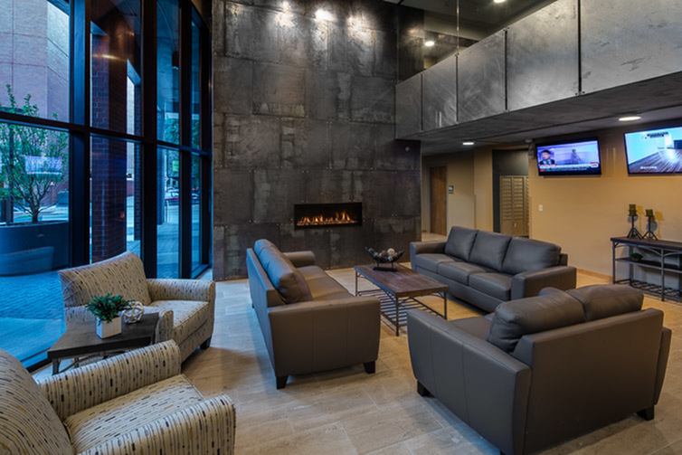 The Lux Apartments Lifestyle - TV Lounge