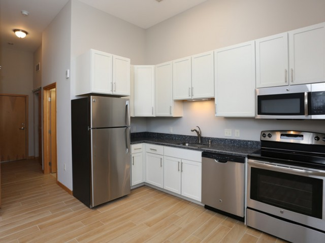 Furnished Apartment KitchenThe Lux Apartments