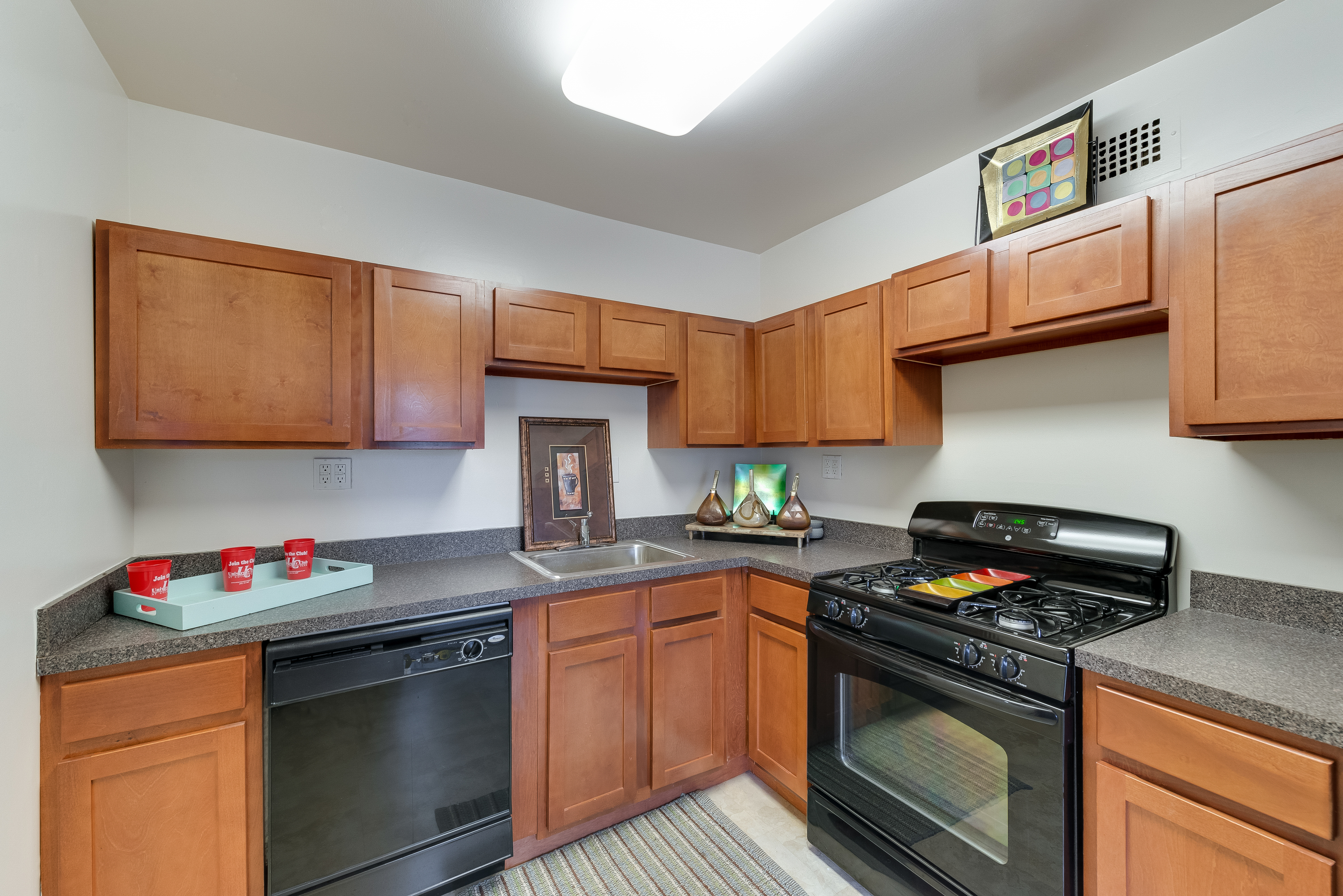 University Club Apartments Furnished Apartment Kitchen