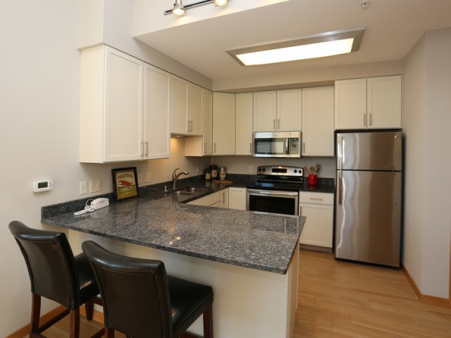 The Lux Apartments Furnished Apartment Kitchen