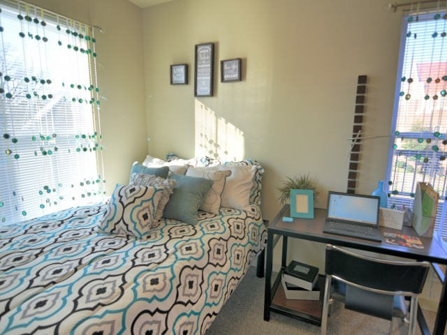 Stratum on Highland Apartments Furnished Apartment Bedroom